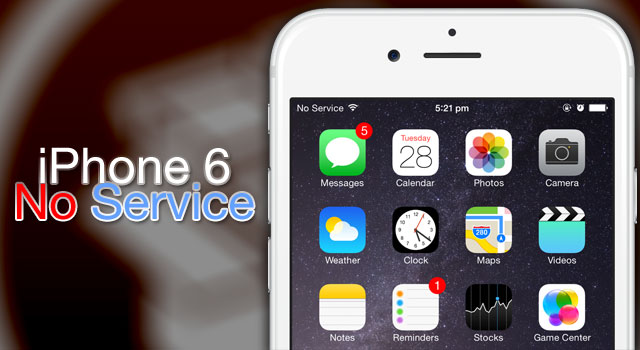 تعمیر no service iphone
